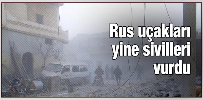 Rus u�aklar� yine sivilleri vurdu