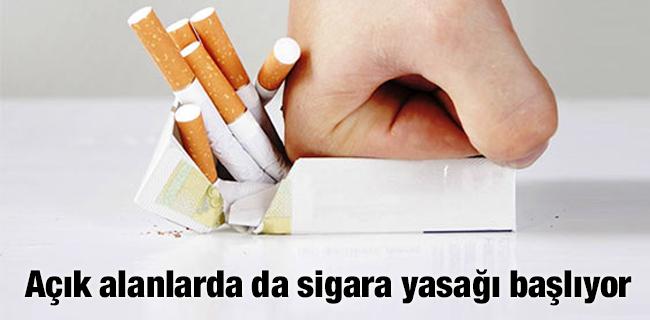 A��k alanlarda da sigara yasa�� ba�l�yor