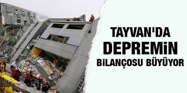 Tayvan`da depremin bilan�osu b�y�yor