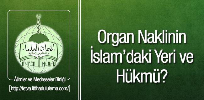Organ Naklinin �slam`daki Yeri ve H�km�