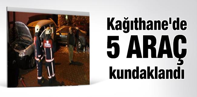 Ka��thane`de 5 ara� kundakland�