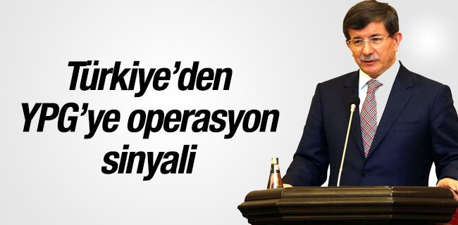 T�rkiye`den YPG`ye operasyon sinyali