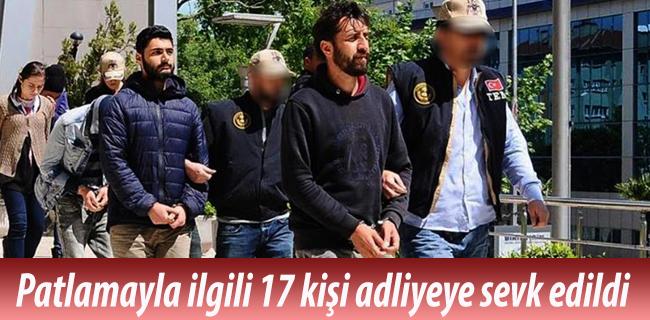 Bursa`daki patlamayla ilgili g�zalt�na al�nan 17 ki�i adliyeye sevk edildi