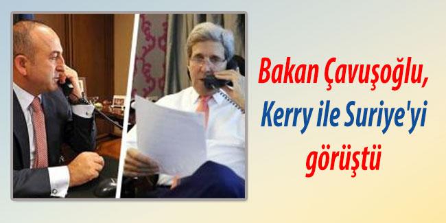 Bakan �avu�o�lu, Kerry ile Suriye`yi g�r��t�