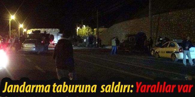 Diyarbak�r`da jandarma taburuna  sald�r�: Yaral�lar var