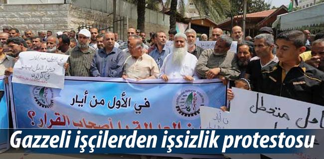Gazzeli i��ilerden i�sizlik protestosu