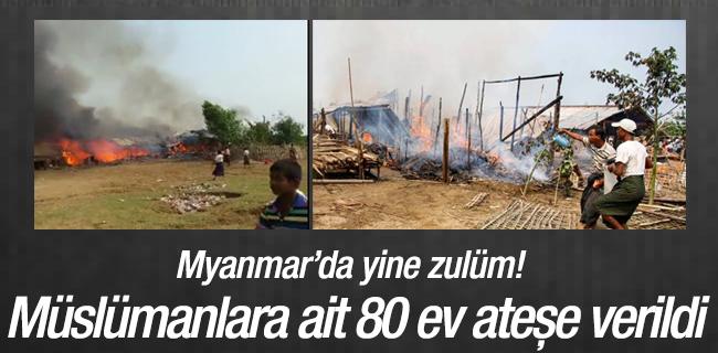 Myanmar`da M�sl�manlara ait 80 Ev ate�e verildi
