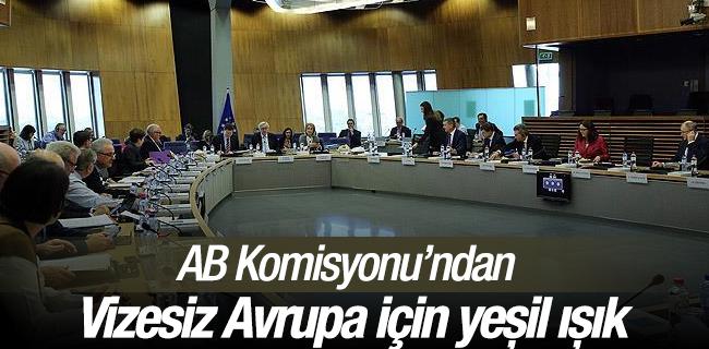 AB Komisyonu`ndan vizesiz Avrupa i�in ye�il ���k