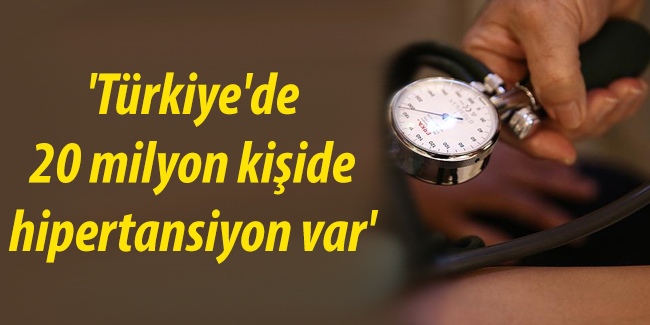 `T�rkiye`de 20 milyon ki�ide hipertansiyon var`