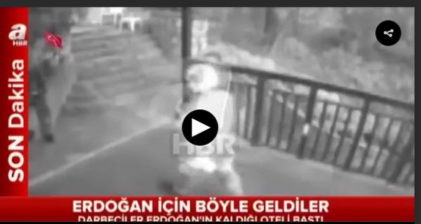 Darbeciler Cumhurbaşkanı Erdoğan`ın kaldığı oteli böyle bastı  .