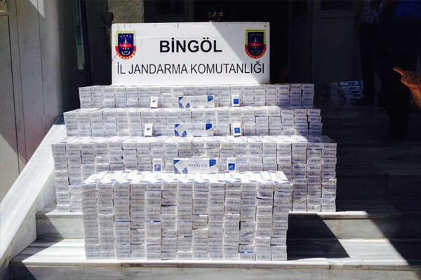 Bing�l`de ka�ak sigara ele ge�irildi