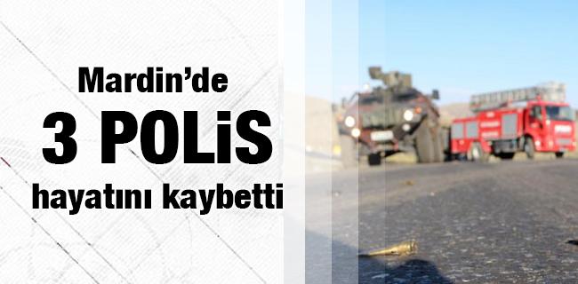 Mardin`de 3 polis hayat�n� kaybetti