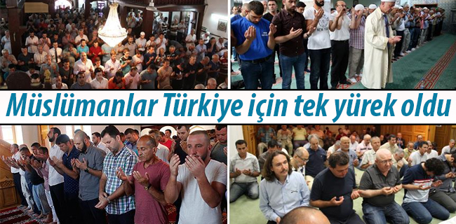 M�sl�manlar T�rkiye i�in tek y�rek oldu