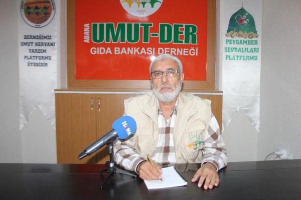 Umut Der: Adana`da kurban eti da��t�lmayan fakir aile kalmas�n