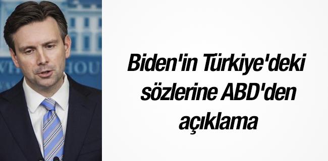 Biden`in T�rkiye`deki s�zlerine ABD`den a��klama