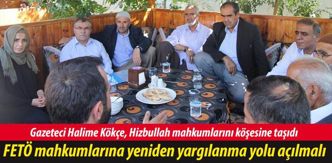Gazeteci Halime K�k�e, Hizbullah mahkumlar�n� k��esine ta��d�