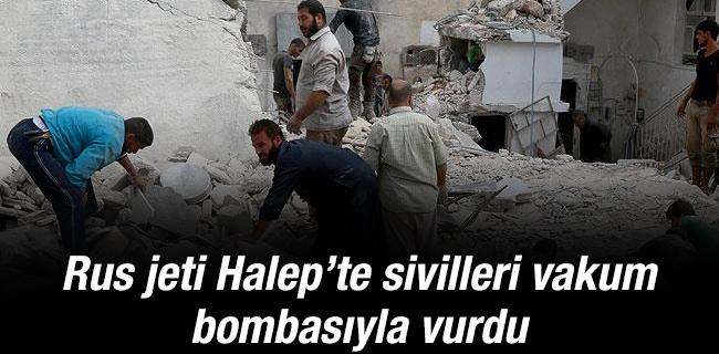 Rus jetlerinden Halep`e hava sald�r�s�