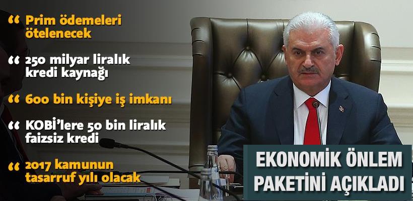 Başbakan ekonomiyle ilgili alınan kararları açıkladı!