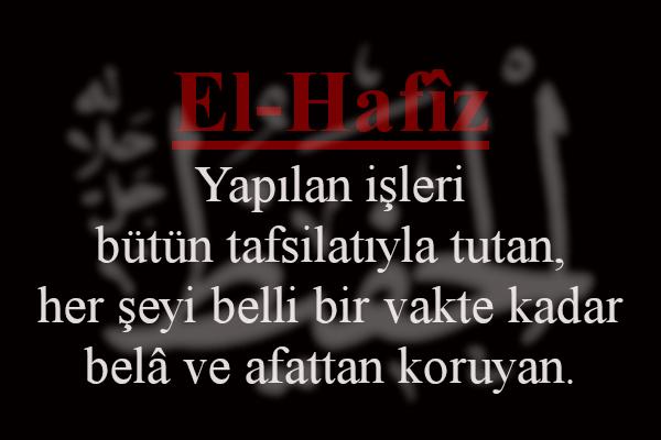 EL-HAFİZ (C.C.)