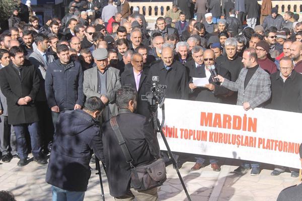 Mardinliler Halep`teki katliamı kınadı