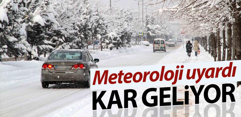 Meteoroloji`den kar yağışı uyarısı