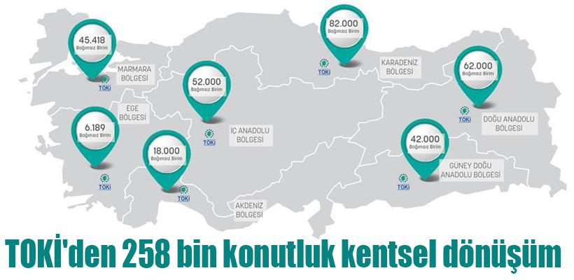 TOKİ`den 258 bin konutluk kentsel dönüşüm