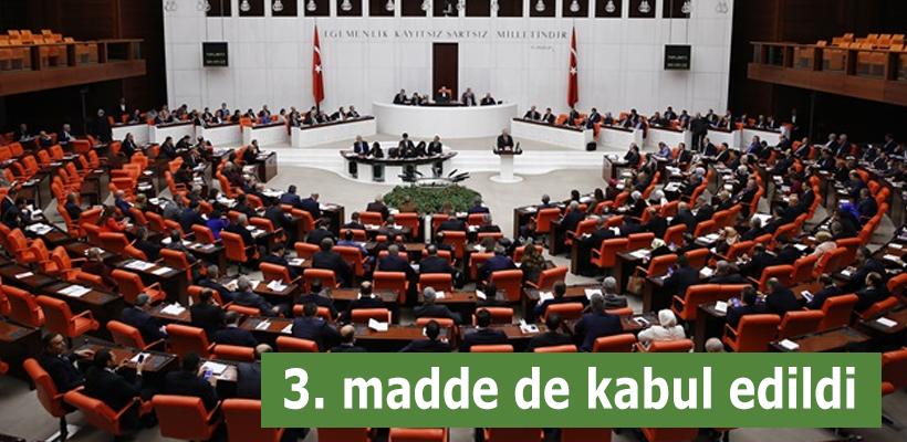Anayasa teklifinin 3. maddesi kabul edildi