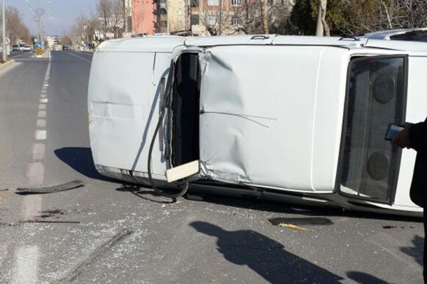 Adıyaman`da trafik kazası: 1 yaralı
