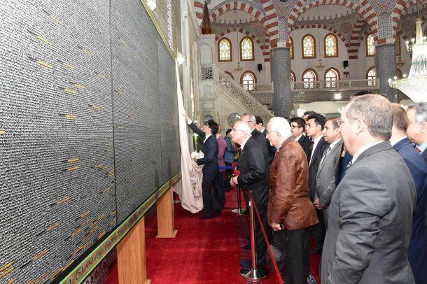 Tuvale nakşedilmiş sır Dergah Camii`nde sergileniyor