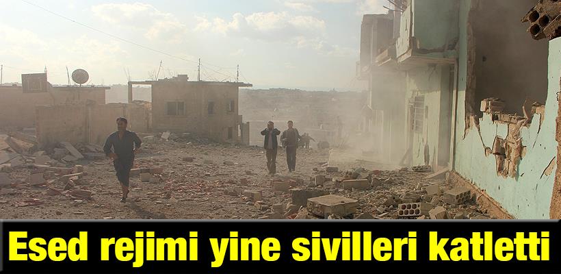 Esed rejimi yine sivilleri katletti