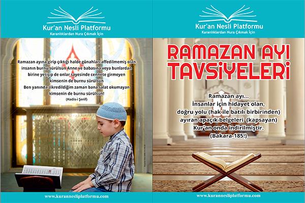 RAMAZAN TAVSİYELERİ