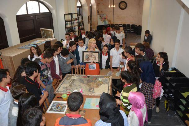 Gaziantep`in en büyük mozaik eğitim merkezi açıldı