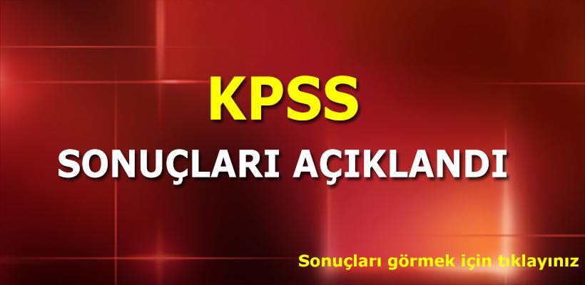 KPSS sonuçları ÖSYM tarafından açıklandı