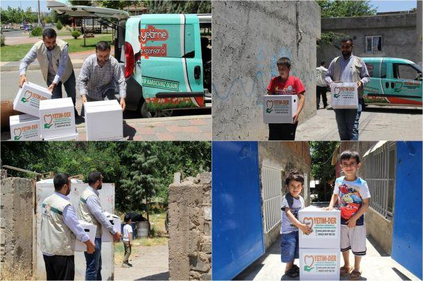 Yetim-Der'den ihtiyaç sahibi ailelere Ramazan yardımı