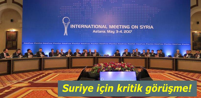 Suriye için kritik görüşme!