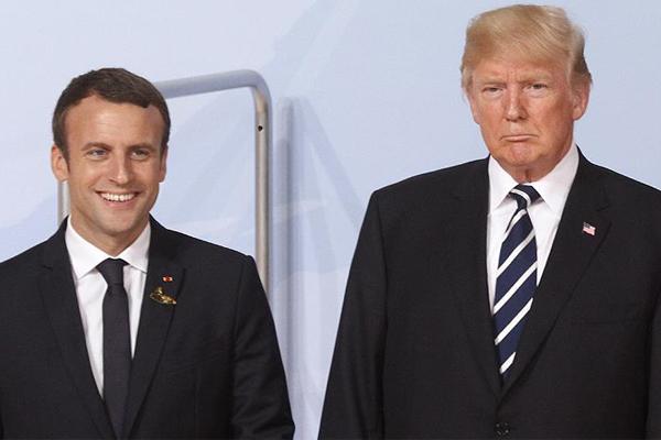 Trump ile Macron Suriye`yi görüşecek