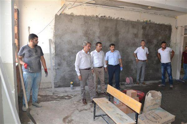 Mardin`de inşaatı devam eden okullar denetlendi