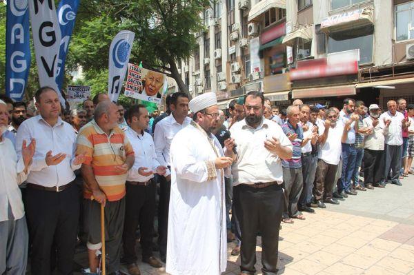 Adana`da Siyonist çeteye lanet yağdı