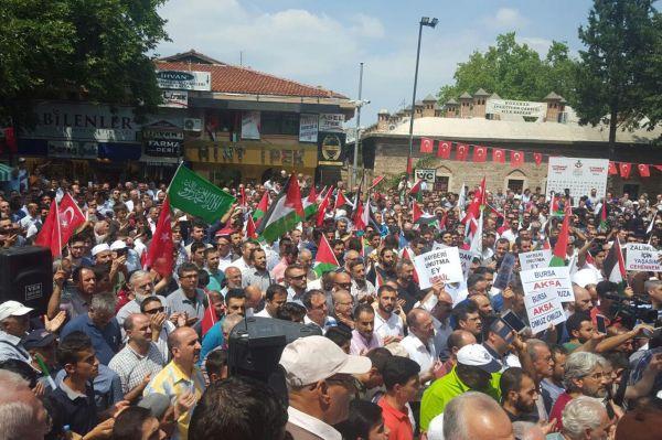Siyonist işgalciler Bursa`da telin edildi