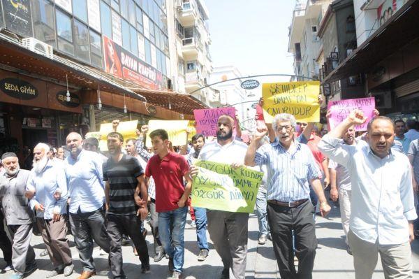 Siyonist işgalciler Gaziantep`te lanetlendi