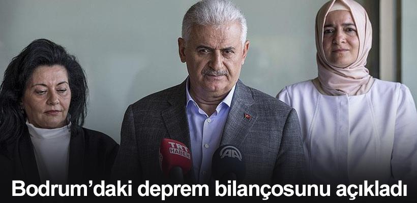 Başbakan Yıldırım, Bodrum`daki deprem bilançosunu açıkladı