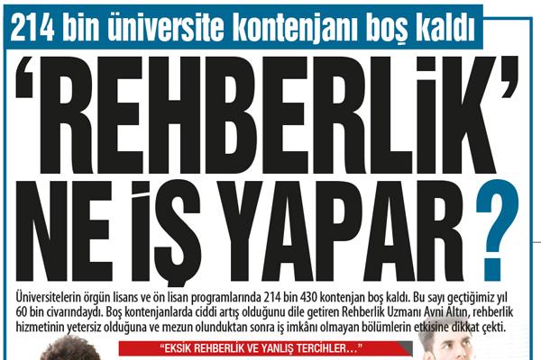 214 bin üniversite kontenjanı boş kaldı 'REHBERLİK` NE İŞ YAPAR?