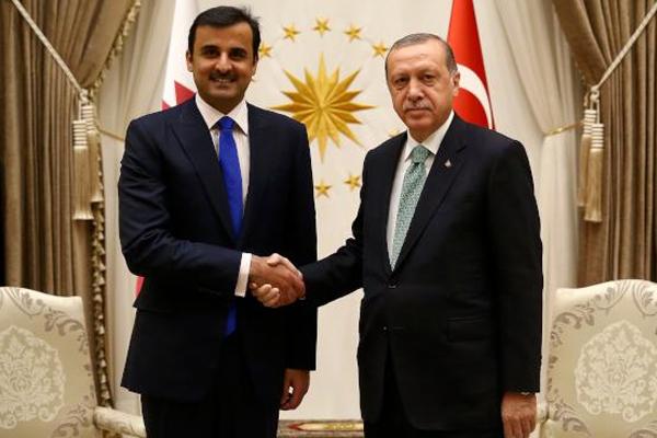 Erdoğan Katar Emiri'yle bir araya geldi