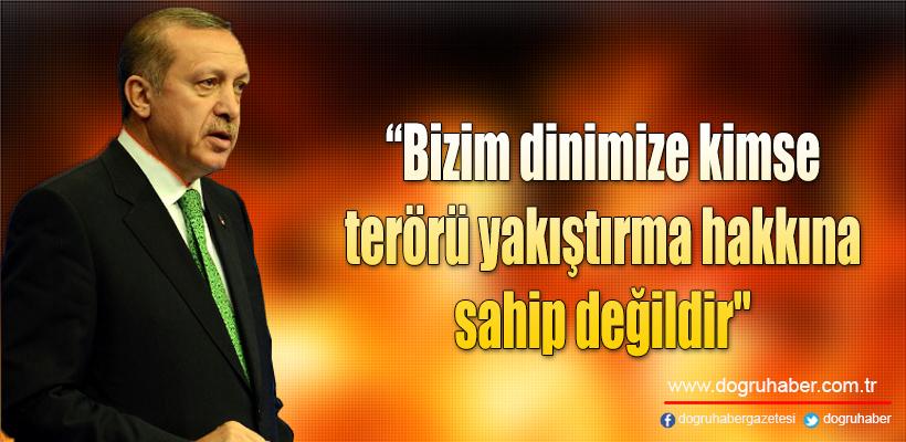 Erdoğan: `İslami terör` ifadesini siz hangi hakla söylüyorsunuz