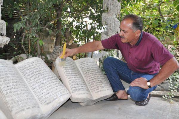 Kur'an-ı Kerim'i taşa işleyen usta yetkililere seslendi