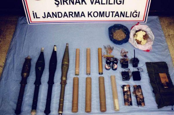 Şırnak'ta antitank mühimmatı ele geçirildi