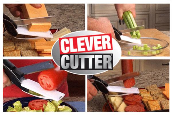 CLEVER CUTTER Bıçak ve Doğrama Tahtası 2'si 1 arada