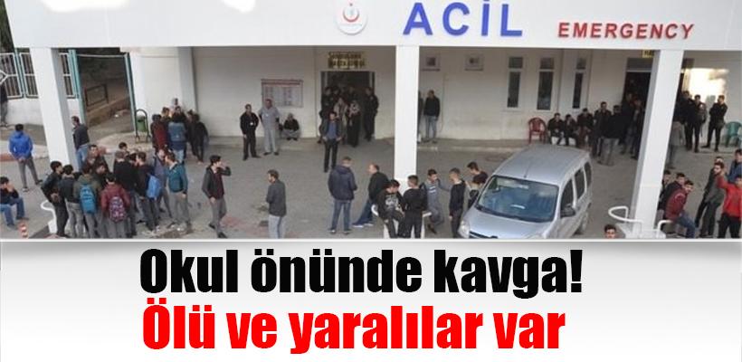 Okul önünde kavga! 1 öğrenci öldü 2 öğrenci yaralı.
