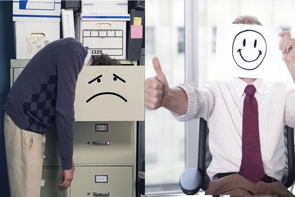 İşveren işçiden daha mutlu!