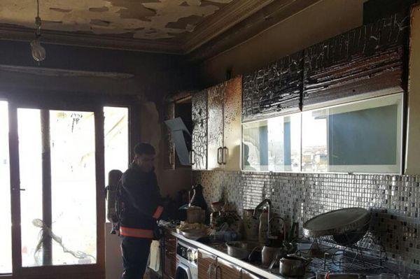Mutfak tüpü patladı: 3 yaralı